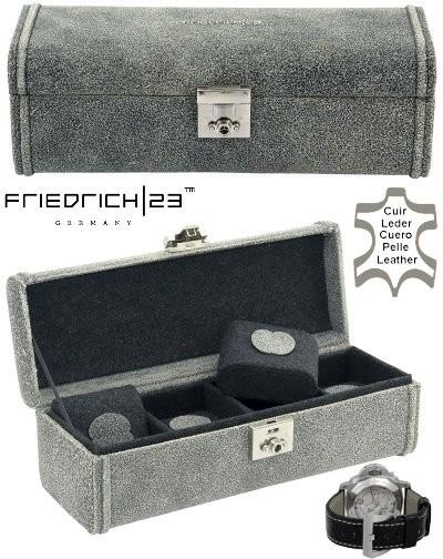 Cofre de relojes Friedrich|23 Cubano Vintage Gris M