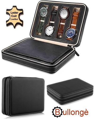 Estuche XXL Highlight BULLONGÈ BLACK para 8 relojes