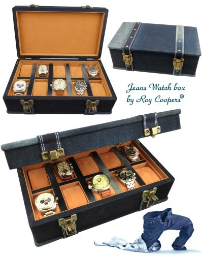 Caja inusual ROY COOPERS JEANS para 10 relojes