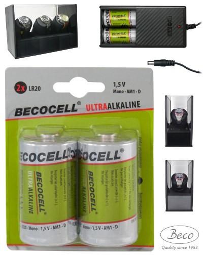 2 baterías Becocell LR20 para vitrinas movimientos