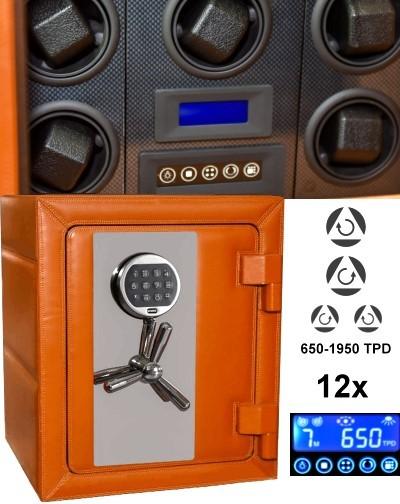 Caja fuerte & 12 watch winder = Safewinder® MASTER 120 OR