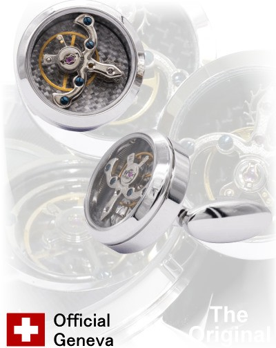 Gemelos RELOJ TOURBILLON STEEL
