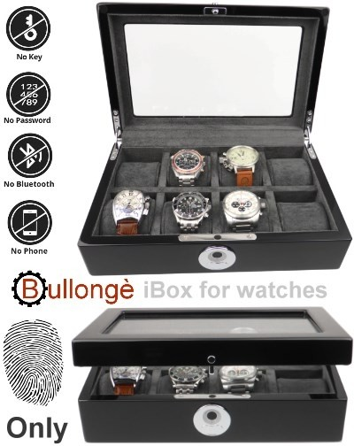 Caja estuche 8 relojes BULLONGÈ iBox cerradura biometrica